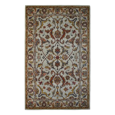 Wool Hand-Tufted Beige/Gold Area Rug Rug Size: Rectangle 6 x 6