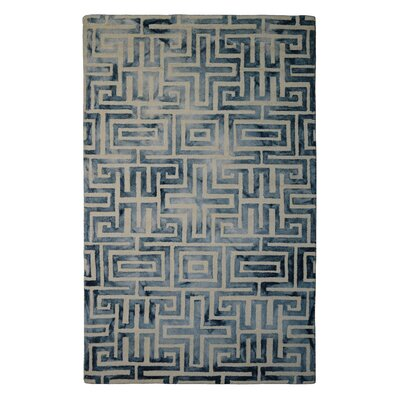 Wool Hand-Tufted Ivory/Gray Area Rug Rug Size: Rectangle 6 x 6