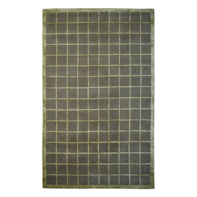 Wool/Viscose Hand-Tufted Brown/Green Area Rug Rug Size: Rectangle 6 x 6