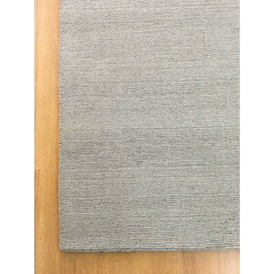 Wool Solid Hand-Tufted Gray Area Rug Rug Size: 5 x 8