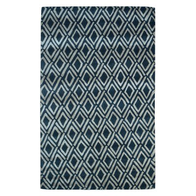 Wool Hand-Tufted Black/Ivory Area Rug Rug Size: 5 x 8