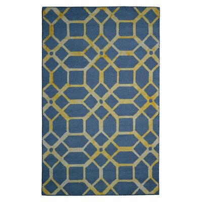Wool Hand-Tufted Gray/Gold Area Rug Rug Size: Rectangle 6 x 6