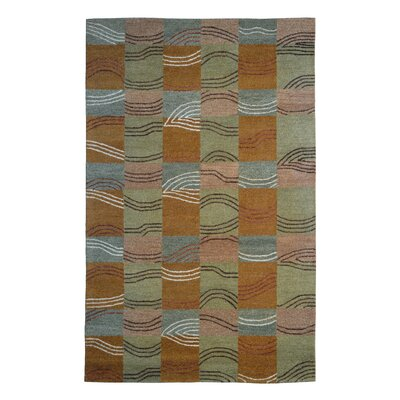 Wool Hand-Tufted Brown/Green Area Rug Rug Size: Rectangle 6 x 6