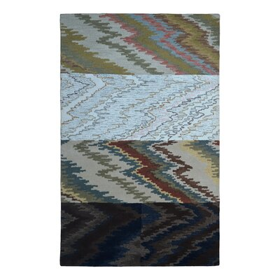 Wool Hand-Tufted Ivory/Brown Area Rug Rug Size: Rectangle 5 x 8