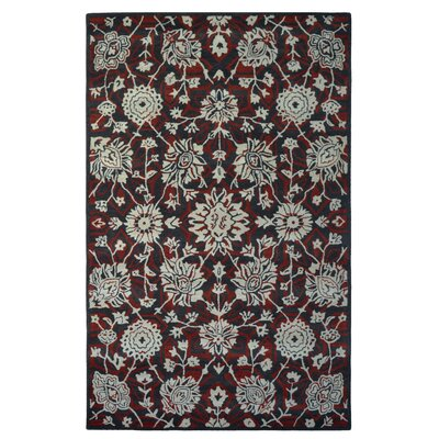 Wool Hand-Tufted Charcoal/Ivory Area Rug Rug Size: 6 x 6