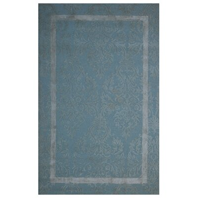 Wool Hand-Tufted Blue/Ivory Area Rug Rug Size: Rectangle 5 x 8