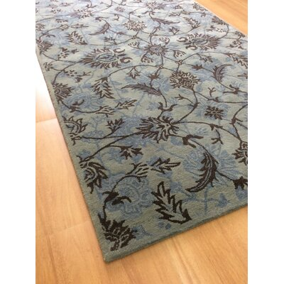Wool Hand-Tufted Green/Brown Area Rug Rug Size: Rectangle 5 x 8