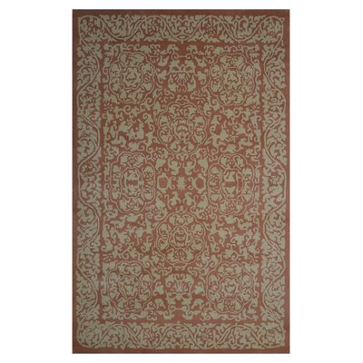 Wool Hand-Tufted Ivory/Brown Area Rug Rug Size: Rectangle 6 x 6