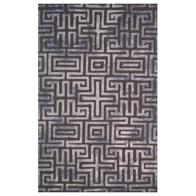 Wool Hand-Tufted Brown/Beige Area Rug Rug Size: 5 x 8