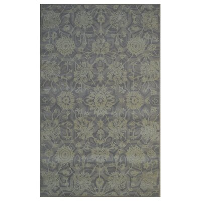 Wool Hand-Tufted Ivory/Pruple Area Rug Rug Size: Rectangle 6 x 6