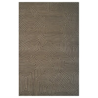 Wool Hand-Tufted Brown Area Rug Rug Size: Rectangle 5 x 8