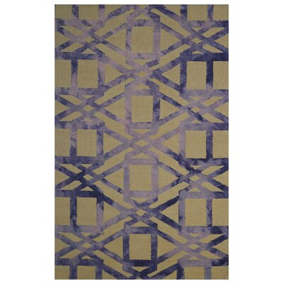 Wool Hand-Tufted Yellow/Purple Area Rug Rug Size: Rectangle 5 x 8