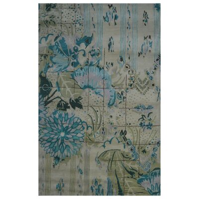 Wool Hand-Tufted Green/Blue Area Rug Rug Size: Rectangle 6 x 6