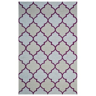 Wool Hand-Tufted Pale/Ivory Area Rug Rug Size: 5 x 8