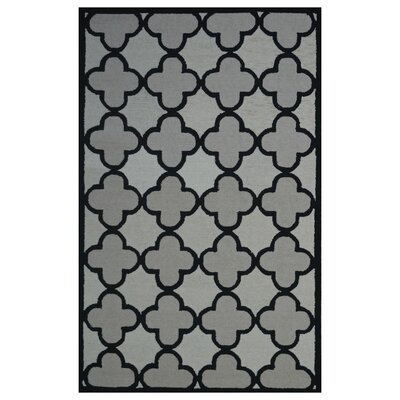 Wool Hand-Tufted Ivory/Beige Area Rug Rug Size: 5 x 8