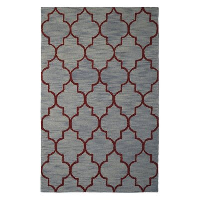 Wool Hand-Tufted Gray/Rust Area Rug Rug Size: 6 x 6