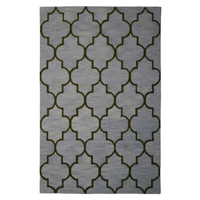 Wool Hand-Tufted Gray/Green Area Rug Rug Size: 5 x 8