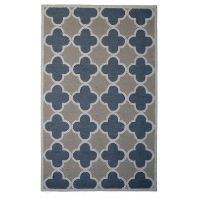 Wool Hand-Tufted Gray/Beige Area Rug Rug Size: 5 x 8