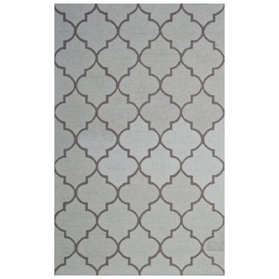 Wool Hand-Tufted Ivory/Green Area Rug Rug Size: 6