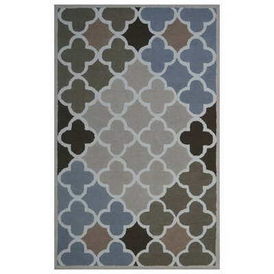 Wool Hand-Tufted Beige/Green Area Rug Rug Size: 6