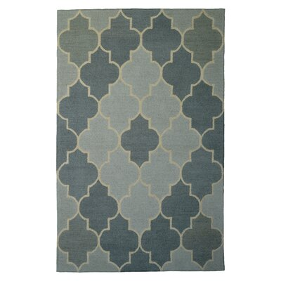 Wool Hand-Tufted Silver/Gray Area Rug Rug Size: 6 x 6