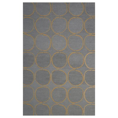 Wool Hand-Tufted Gray/Gold Area Rug Rug Size: 5 x 8