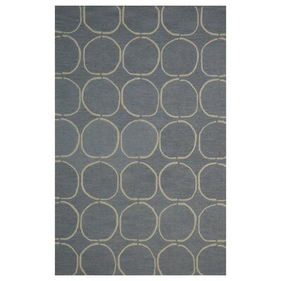 Wool Hand-Tufted Gray/Ivory Area Rug Rug Size: 5 x 8