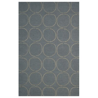 Wool Hand-Tufted Dark Gray/Rust Area Rug Rug Size: 5 x 8