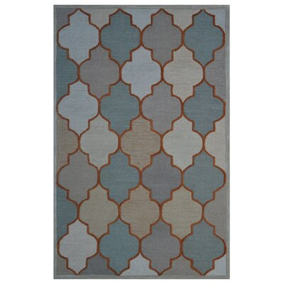 Wool Hand-Tufted Beige/Green Area Rug Rug Size: 5 x 8