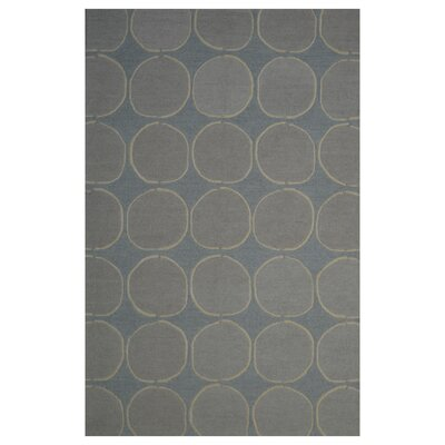 Wool Hand-Tufted Blue/Beige Area Rug Rug Size: 6 x 6