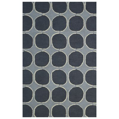 Wool Hand-Tufted Gray/Charcoal Area Rug Rug Size: 5 x 8