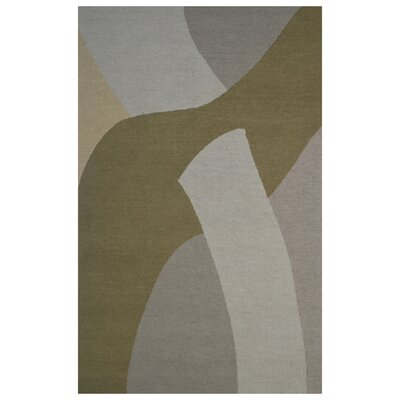 Wool Hand-Tufted Green/Gray Area Rug Rug Size: 5 x 8