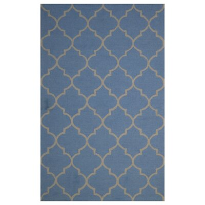 Wool Hand-Tufted Blue Area Rug Rug Size: 5 x 8