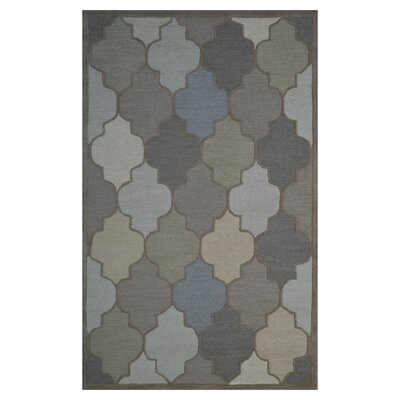 Wool Hand-Tufted Brown/Gray Area Rug Rug Size: 6 x 6