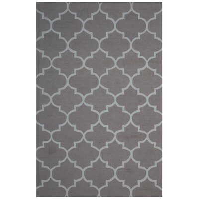 Wool Hand-Tufted Gray Area Rug Rug Size: 5 x 8