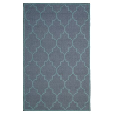 Wool Hand-Tufted Blue Area Rug Rug Size: 6' x 6'