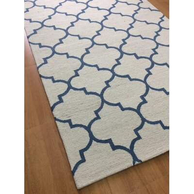 Wool Hand-Tufted Off-White Area Rug Rug Size: 5 x 8