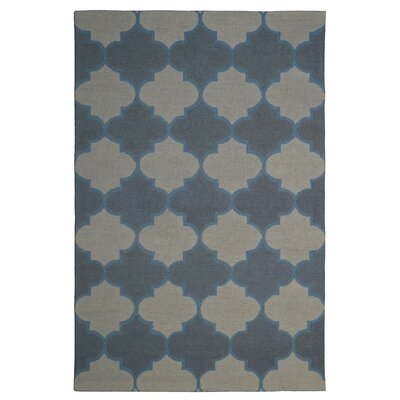 Wool Hand-Tufted Gray/Black Area Rug Rug Size: 6 x 6
