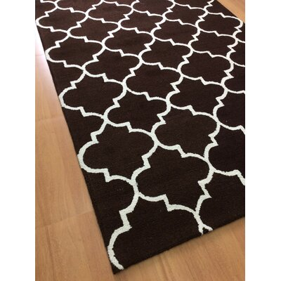 Wool Hand-Tufted Brown Area Rug Rug Size: 6 x 6
