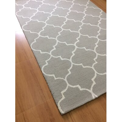 Wool Hand-Tufted Gray/Ivory Area Rug
