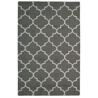 Wool Hand-Tufted Brown/Ivory Area Rug Rug Size: 5 x 8