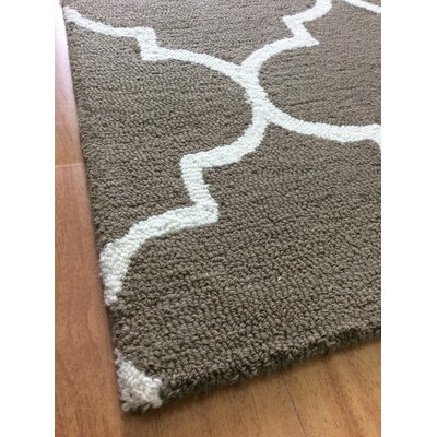Wool Hand-Tufted Brown/Ivory Area Rug