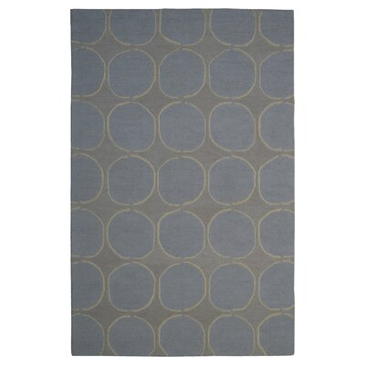 Wool Hand-Tufted Ivory/Gray Area Rug Rug Size: 5 x 8