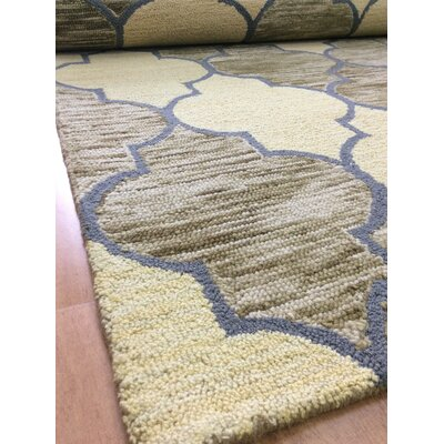 Wool Hand-Tufted Gold/Green Area Rug