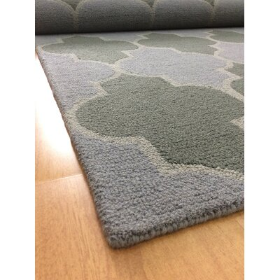 Wool Hand-Tufted Gray/Green Area Rug