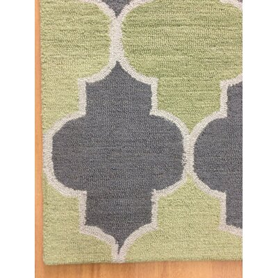 Wool Hand-Tufted Green/Silver Area Rug