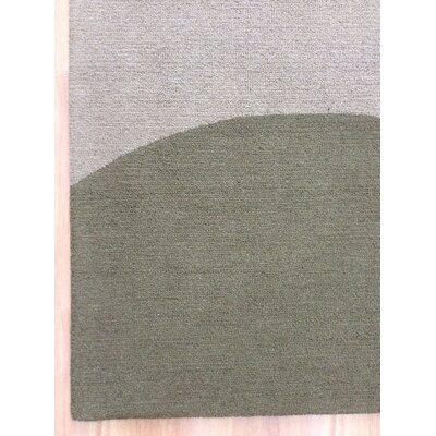 Wool Hand-Tufted Green/Brown Area Rug