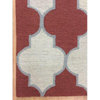 Wool Hand-Tufted Red/Rust Area Rug