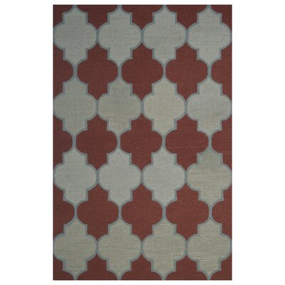 Wool Hand-Tufted Red/Rust Area Rug Rug Size: 5 x 8