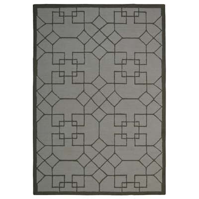 Wool Hand-Tufted Ivory/Green Area Rug Rug Size: 5 x 8